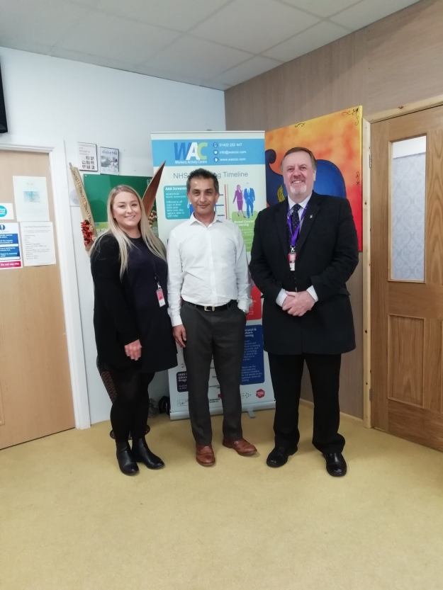Image of Paige Cowling, Sajeed Mahmood and Mark Burns-Williamson OBE